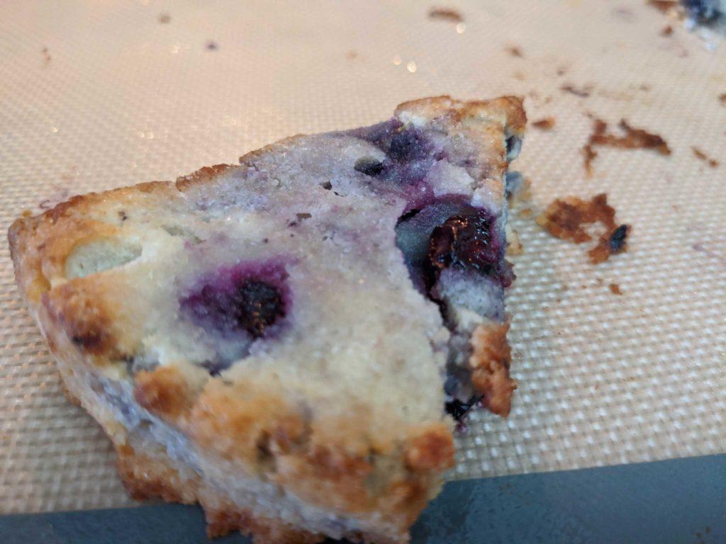 lemon blueberry scone - vegan low-carb