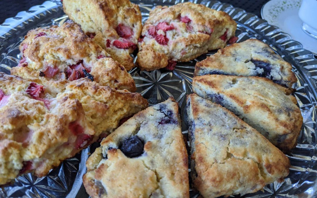 Low-carb vegan scones