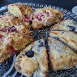Low carb vegan lemon blueberry scones